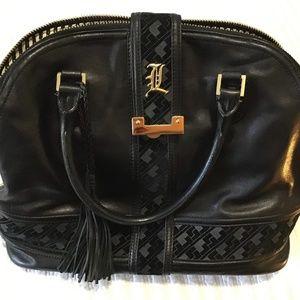 L.A.M.B. Leather Handbag- Black